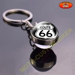 Porte cles globe route 66