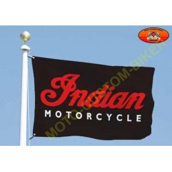 Drapeaux biker Indian motorcycle noir