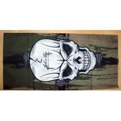 Tour de cou moto white skull