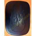 Selle à ventouses motif flamme pour harley, pouf custom