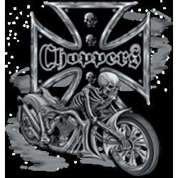 T shirt bike and skull