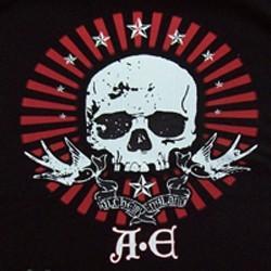 T shirt biker A.E skull