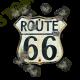 T shirt biker old road 66