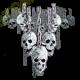 T shirt biker skull chain