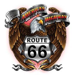 T shirt biker america's eagle road 66