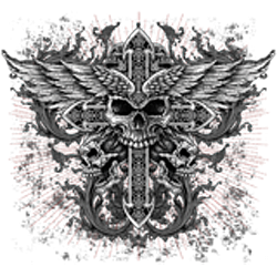 T shirt biker angel cross