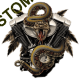 T shirt biker rattlesnake