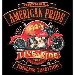 T shirt biker american pride