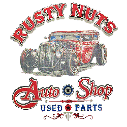 T shirt biker rusty nuts