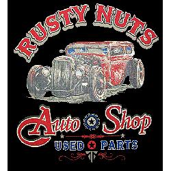 T shirt biker rusty nuts