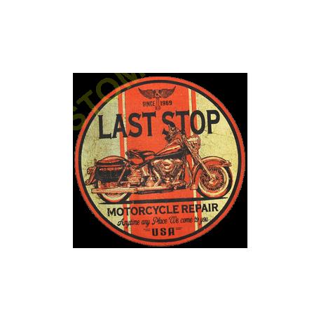 T shirt biker last stop