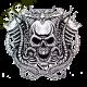 T shirt biker motor skull