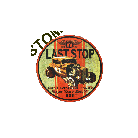 T shirt biker last stop hot rod