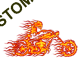 T shirt biker ghost rider