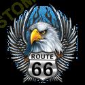 T shirt biker eagle road
