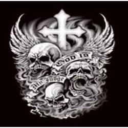 T shirt biker dead cross