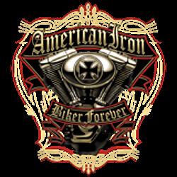 T shirt biker american iron biker