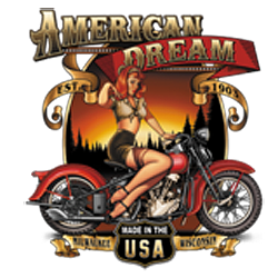 T shirt biker american dream babe