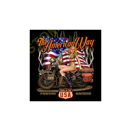 T shirt biker american way babe