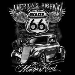 T shirt biker america's highway