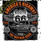 T shirt biker hot rod route 66