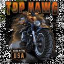 T shirt biker top hawg