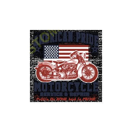T shirt biker american pride bike