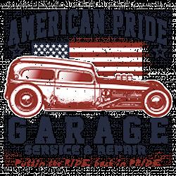 T shirt biker american pride hot rod