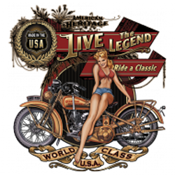 T shirt biker live the legend babe