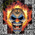 T shirt biker clown flaming