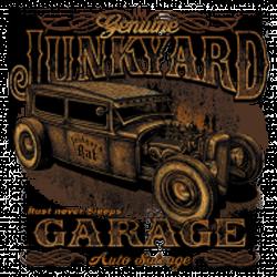 T shirt biker junk yard garage
