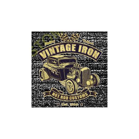 T shirt biker iron hot rod
