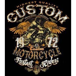 T shirt biker custom bike