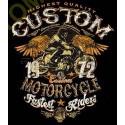 T shirt biker custom bike