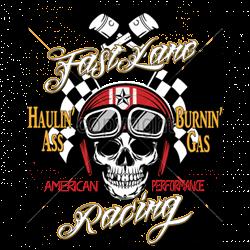 T shirt biker fast line racing