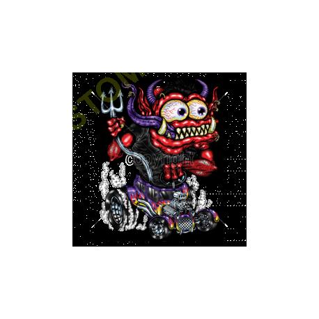 Débardeur homme red monster purple hot rod