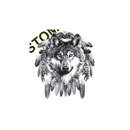 Débardeur homme tête de loup