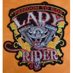 Patch, écusson freedom lady rider