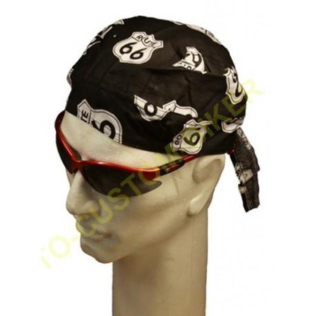 Zandana biker mode harley white skulls on black