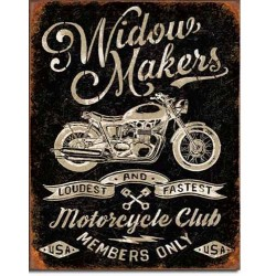 Plaque metal decorative Widow makers