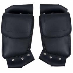 Bagage moto, sacoches latérales droite et gauche pour pares jambes flh et road king