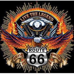 Débardeur homme live the legend road 66