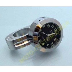 Montre de guidon chrome pour harley et custom