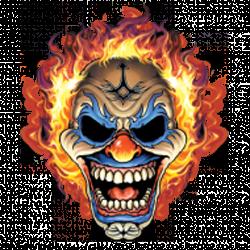 Débardeur homme clown flaming