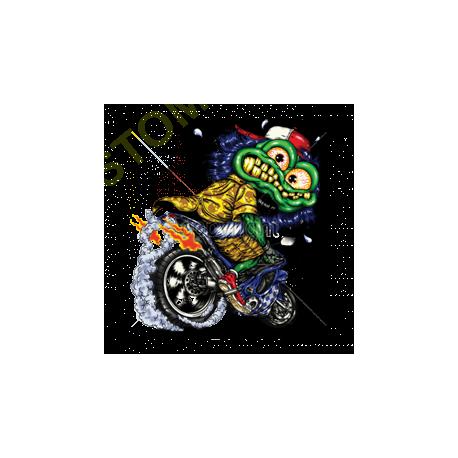 Sweat biker green monster cycle