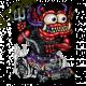 Sweat biker red monster purple hot rod