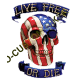 Sweat biker live free or die