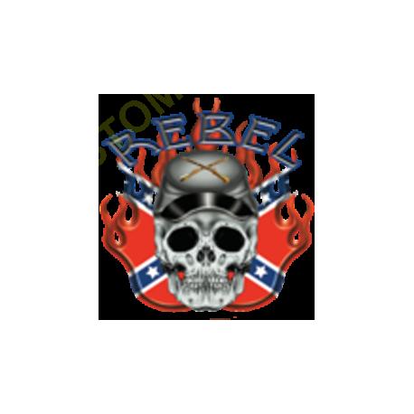 Sweat biker rebel confédéré