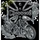 Sweat biker bike and skull