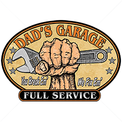 Sweat biker dad garage